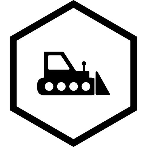 diseño de icono de bulldozer