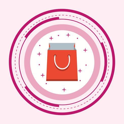 Shopping Bag Icon Design vector
