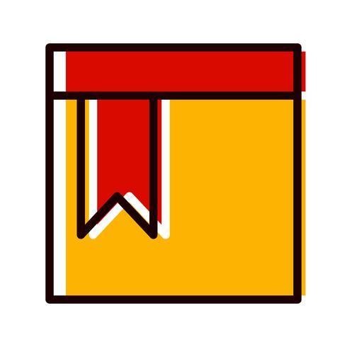 Icon-Design mit Lesezeichen