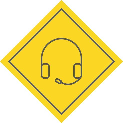 Hörlurar Icon Design vektor