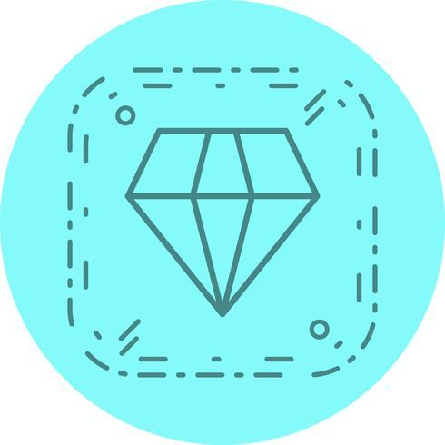 disegno dell'icona del diamante vettore