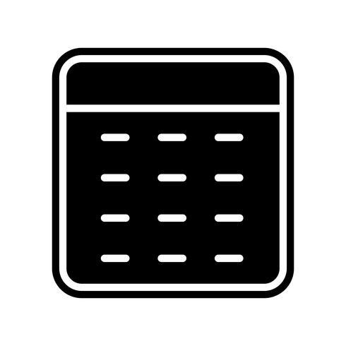 Diseño de iconos de calculadora vector