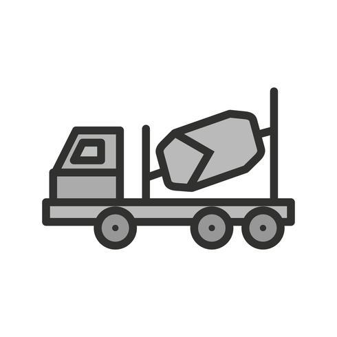 Betonmixer pictogram ontwerp vector