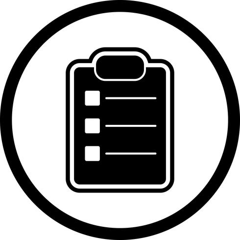Elenca il design dell'icona vettore