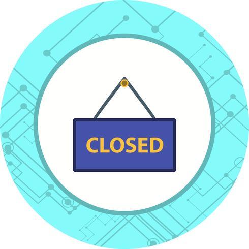 Closed Sign Icon Design