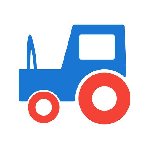 Tractor Icon Design vector