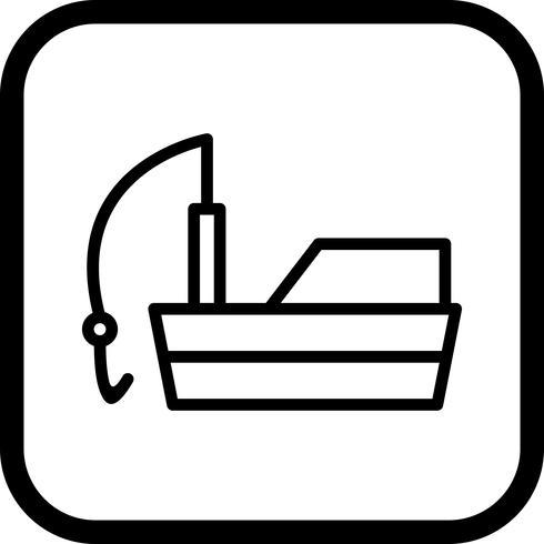 Design de ícone de barco de pesca vetor