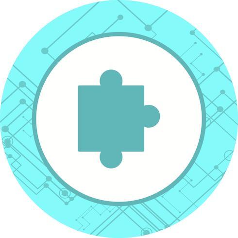 disegno dell'icona del pezzo di puzzle