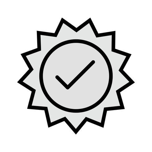 Disegno dell'icona timbro valido