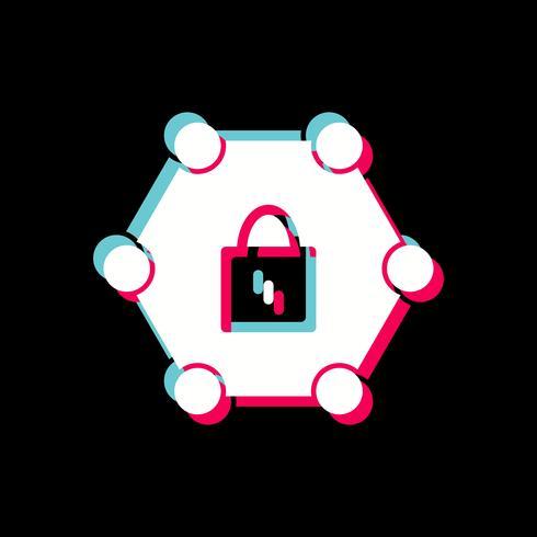 Diseño de icono de red protegido