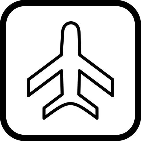 Disegno dell'icona dell'aeroplano vettore