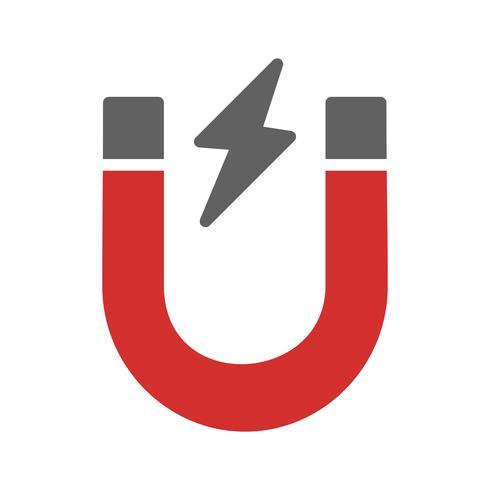 Imán icono de diseño vector