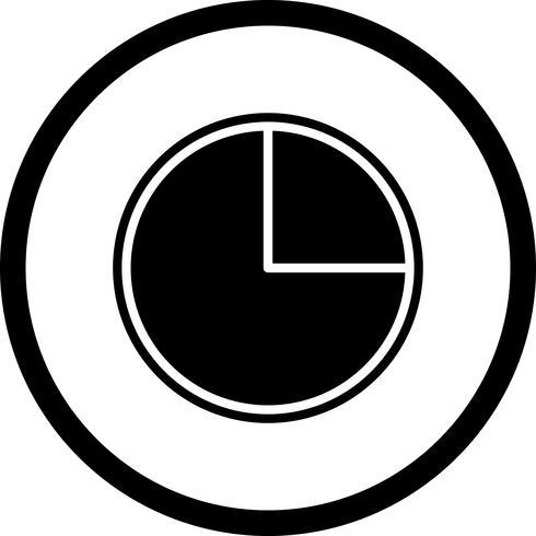 Pie Chart Icon Design vector