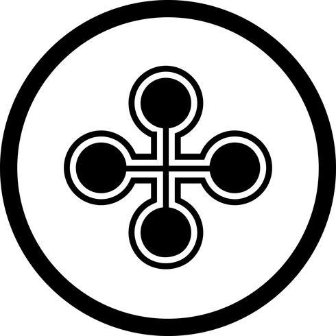 Conception d'icône de bâtiment de lien