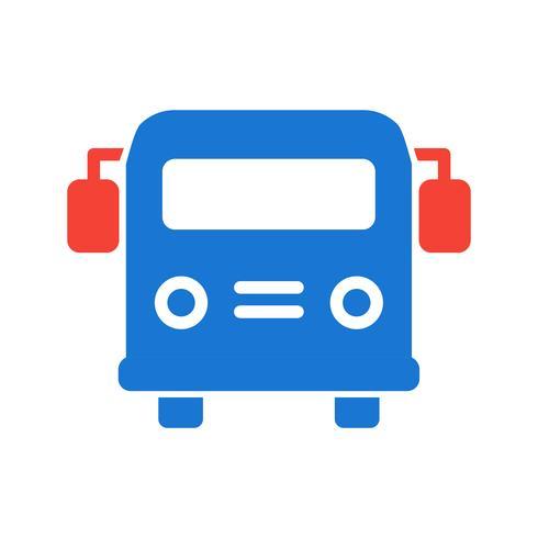 Diseño del ícono del autobús escolar.