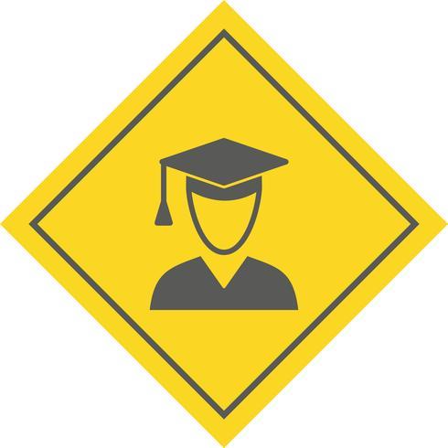 Disegno dell'icona dello studente maschio