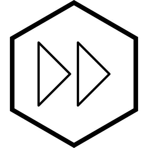 Design de ícone de setas para a frente vetor