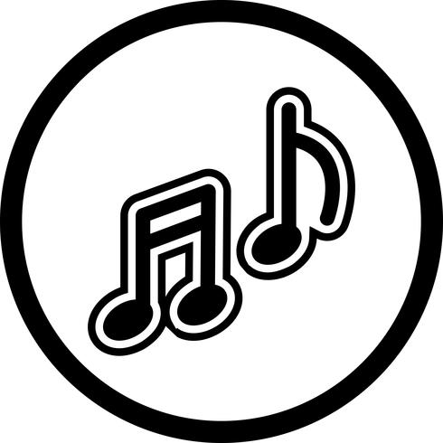 Diseño de icono de la música vector