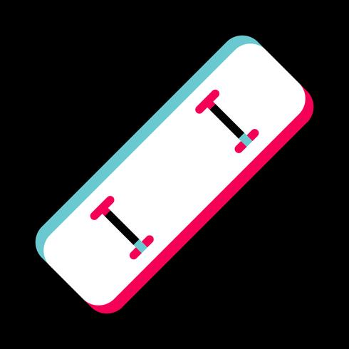 Design de ícone de skate vetor