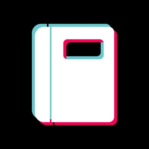 Design de ícone de caderno