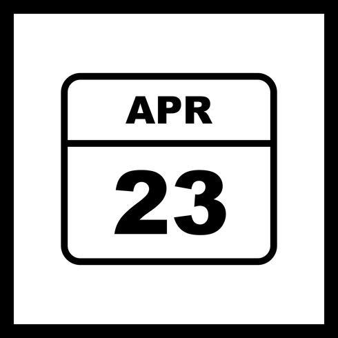 23 avril Calendrier d'une journée