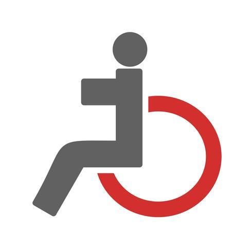 Design de ícone de deficiente