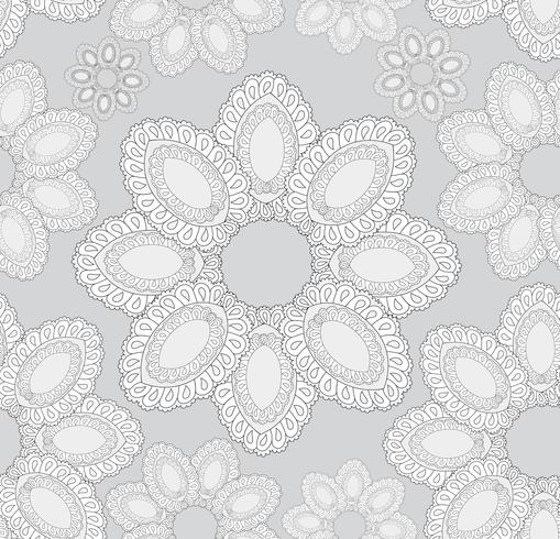 Abstract oriental floral seamless pattern. vector