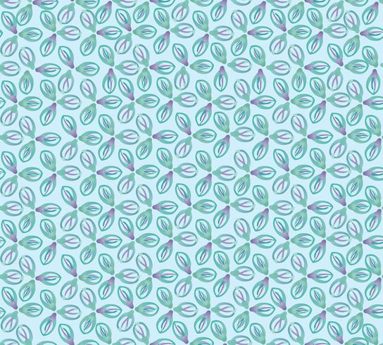 Abstract oriental floral tile pattern. Geometric ornament vector