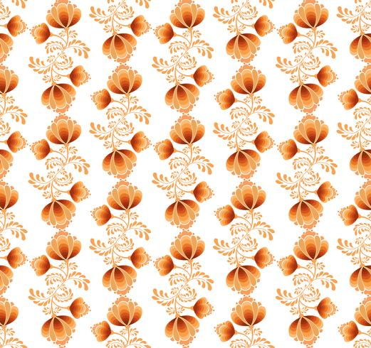 Swirl floral seamless pattern. Ornamental background in russian style .