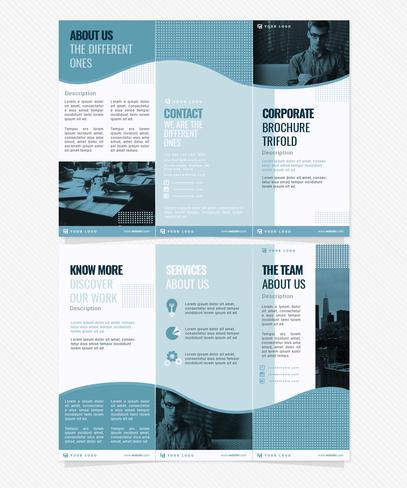 Vector Corporate Trifold Handoutsjabloon