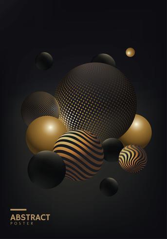 Cartaz de bola abstrata