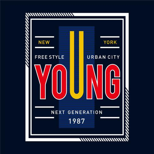 maglietta di progettazione grafica di città urbana di stile libero di stile