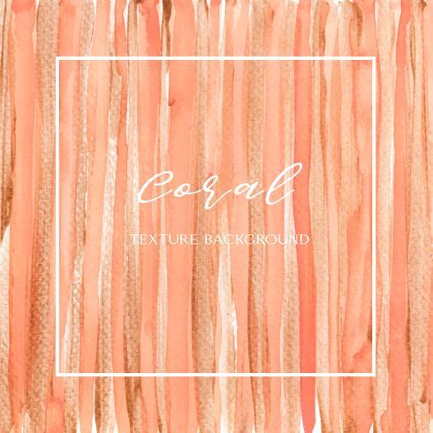 Coral cor na moda mar shell aquarela e ouro guache textura fundo papel de parede impressão ilustração vetorial design para banner, cartaz, revista