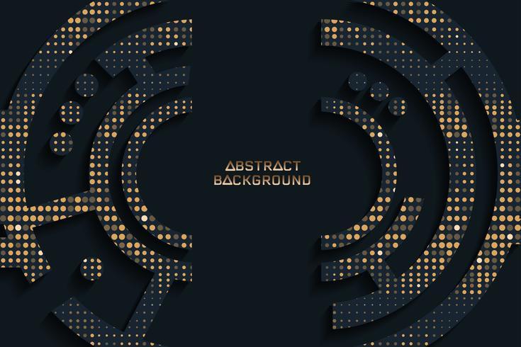 Fondo negro y de oro abstracto de la textura, diseño del vector.