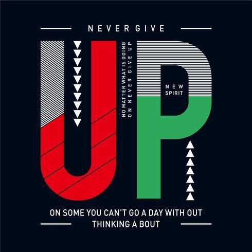Inspiring motivation quote new spirit, Vector typography