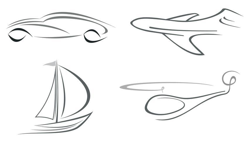 Avion, hélicoptère, voiture et yacht