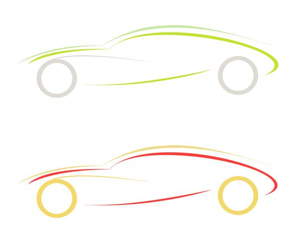 Sportbil - vektorikon