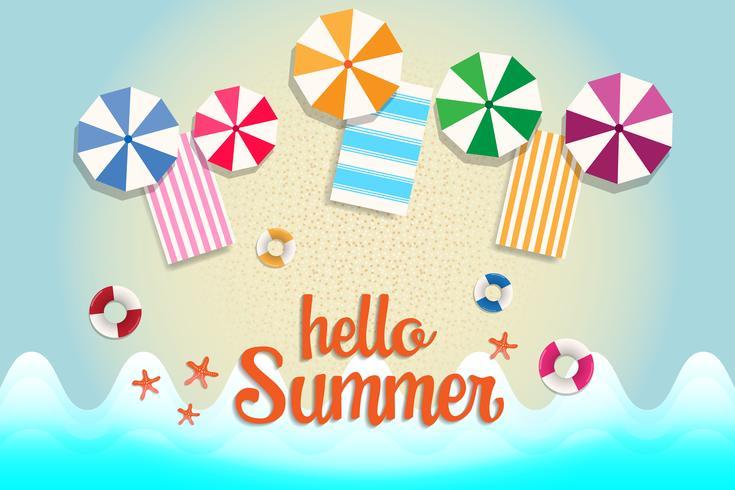 Banner y fondo de venta de verano