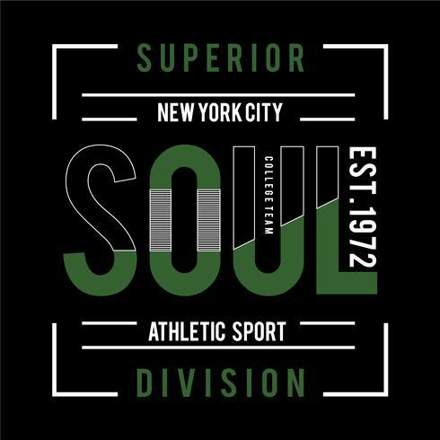 Grafische Kunst der New York City Sport-Typografie