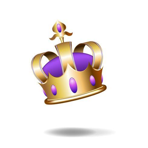 Illustration réaliste de la couronne d'or