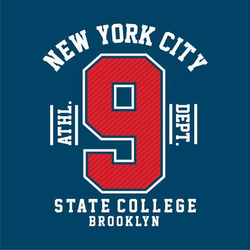 New York stad typografie ontwerp vector