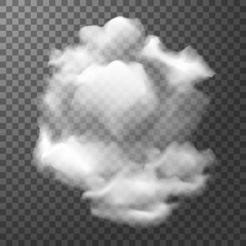 Nuvem branca em fundo transparente