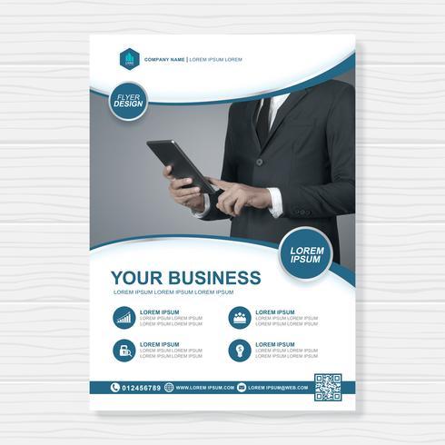 Plantilla de la cubierta comercial a4 e icono plano para un informe y diseño de folleto, folleto, pancarta, decoración de folletos para impresión y presentación ilustración vectorial vector