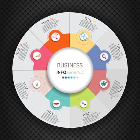 Infografiken-Vektor-Design und Marketing-Symbole