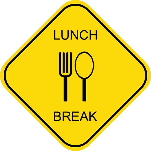 Mittagspause - Vektor-Symbol