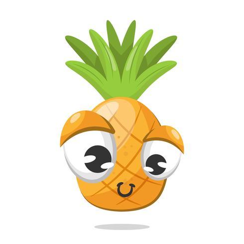 Sfondo di ananas felice