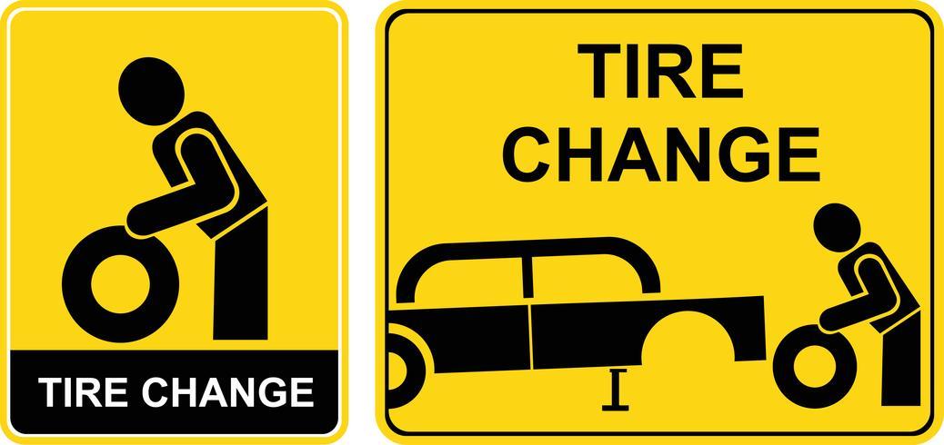 Reifenwechselzeichen