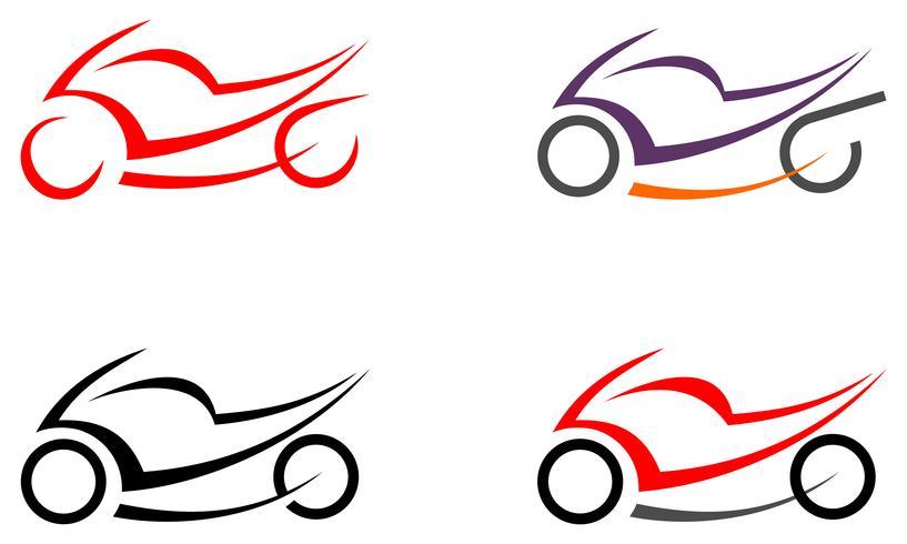 Motorrad, Motorrad - Vektorbild, Tätowierung