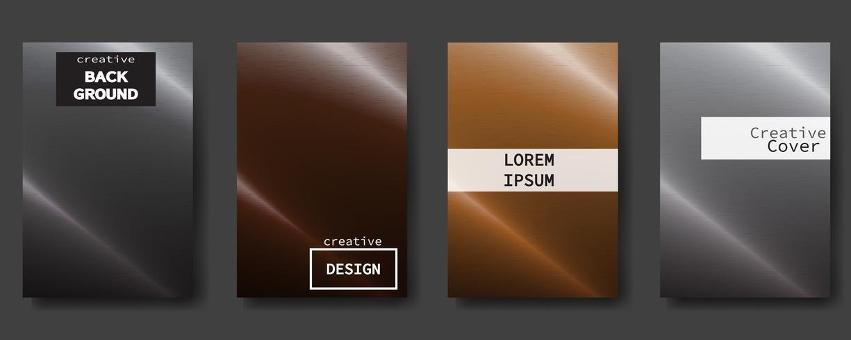 Modern abstrakt täcker set. Färgrik affisch bakgrund, vektor design.