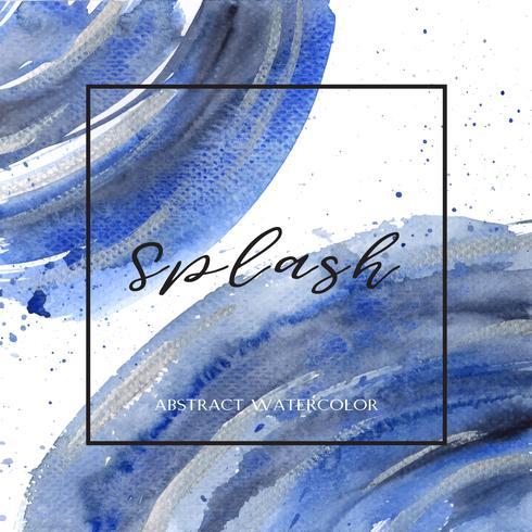 Aquarelle et gouache de couleur Ultra marine, fond, texture, bannière, conception, conception, grunge, espace, texte, illustration, papier peint, illustration
